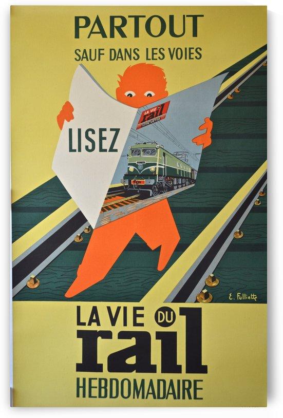 La Vie du Rail vintage cover poster by VINTAGE POSTER