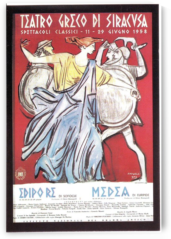 Vintage poster for Greek Theater Siracusa by VINTAGE POSTER