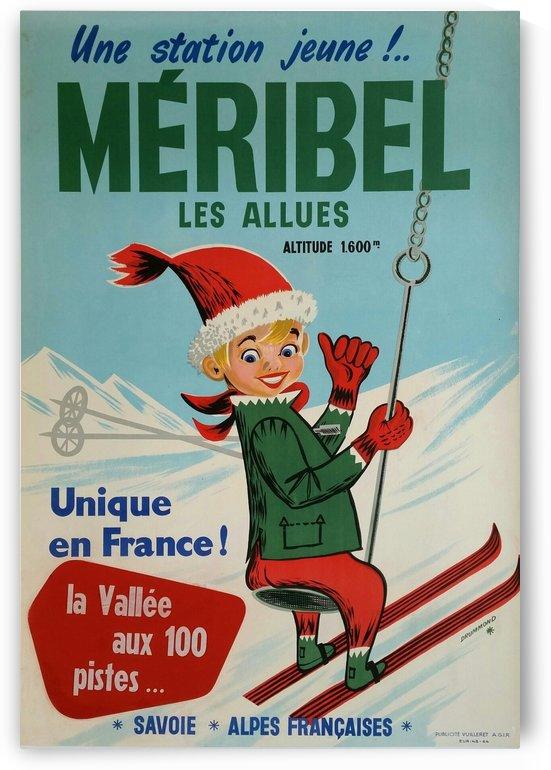 Original vintage poster ski winter sport Meribel by VINTAGE POSTER