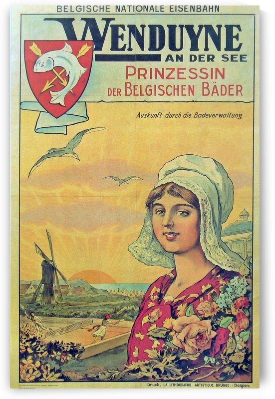 Wenduine aan der Zee vintage poster by VINTAGE POSTER