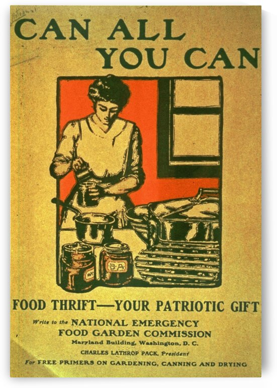 Can all you can by VINTAGE POSTER