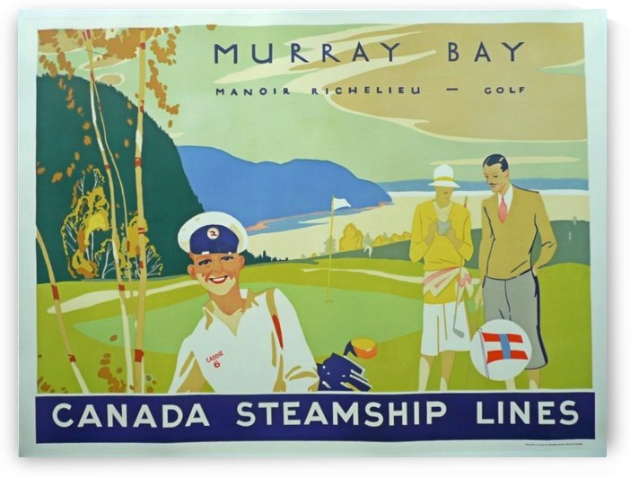 Original vintage poster Murray Bay for Canada Steamship Lines by VINTAGE POSTER