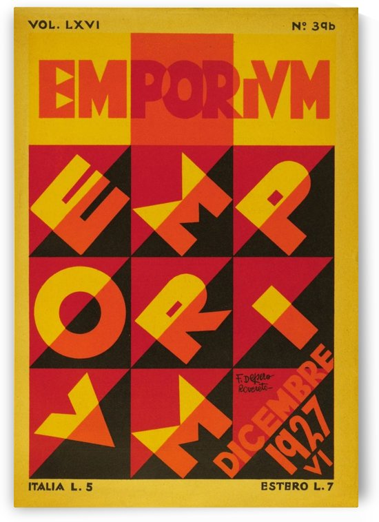 Emporium Italian vintage poster by VINTAGE POSTER