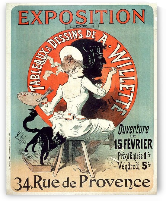 French vintage poster for paintings exposition by VINTAGE POSTER