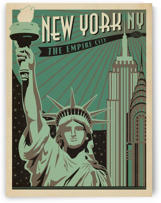 New York American travel poster by VINTAGE POSTER