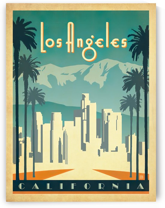 Los Angeles California travel poster by VINTAGE POSTER