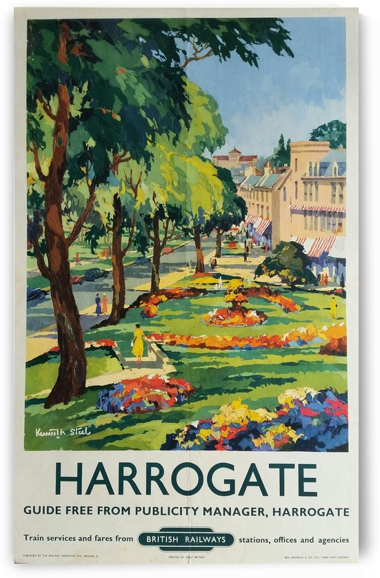 Harrogate poster for British Railways by VINTAGE POSTER