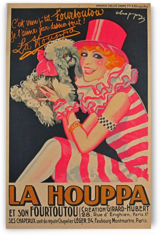 La Houppa Original Vintage advertisement lithograph poster by VINTAGE POSTER