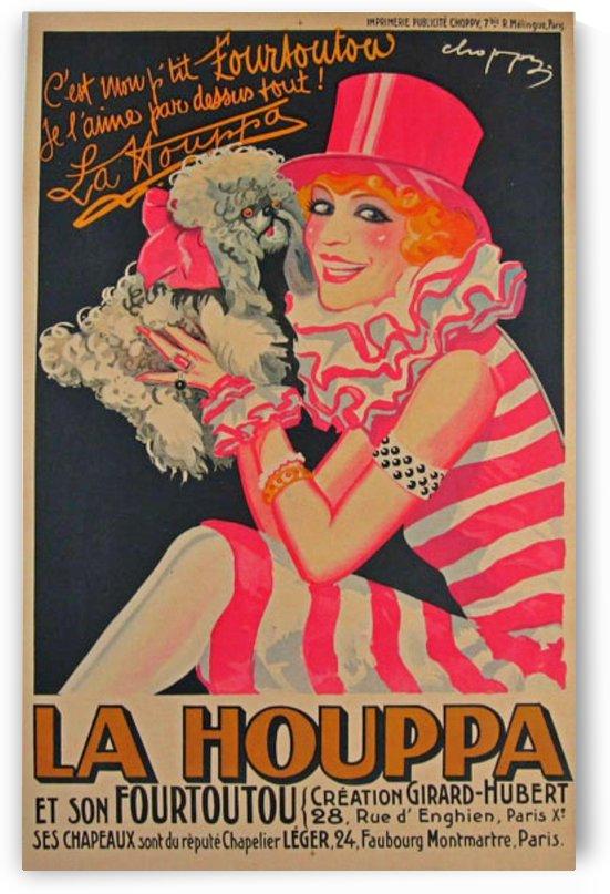 La Houppa Original Vintage advertisement lithograph poster by VINTAGE POSTER