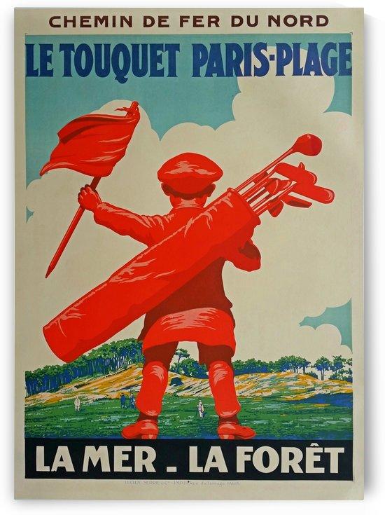 Original vintage poster golf Le Touquet Paris-Plage Chemin de fer du Nord by VINTAGE POSTER