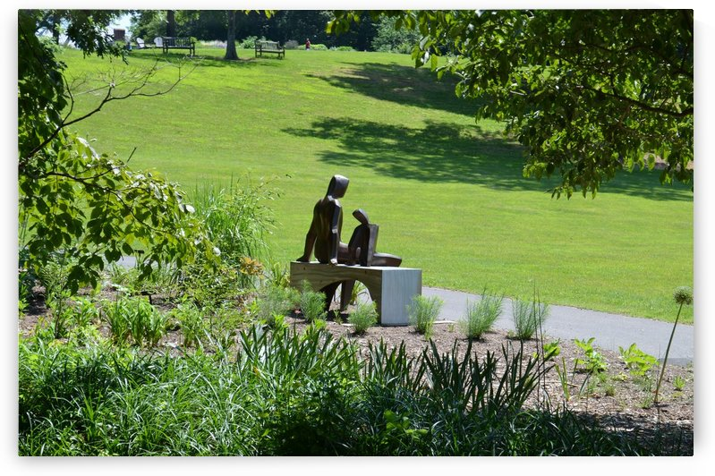 People on a bench by BK