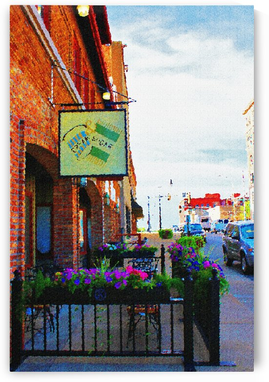 Downtown Kankakee Cafe by Don  Baker
