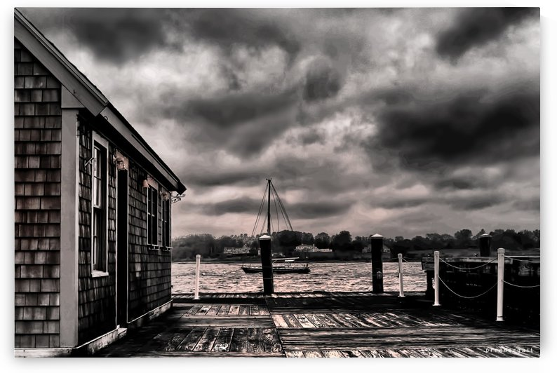 harbor rain bristol rhode island tom prendergast by tom Prendergast