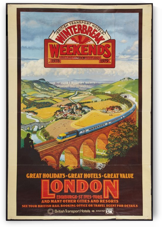London vintage travel poster for British Railways by VINTAGE POSTER