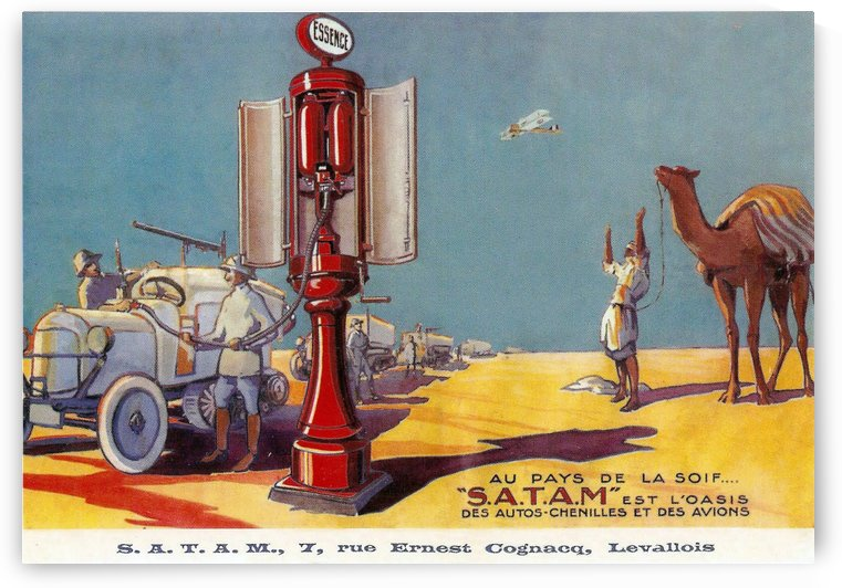 Satam vintage service station equipment by VINTAGE POSTER