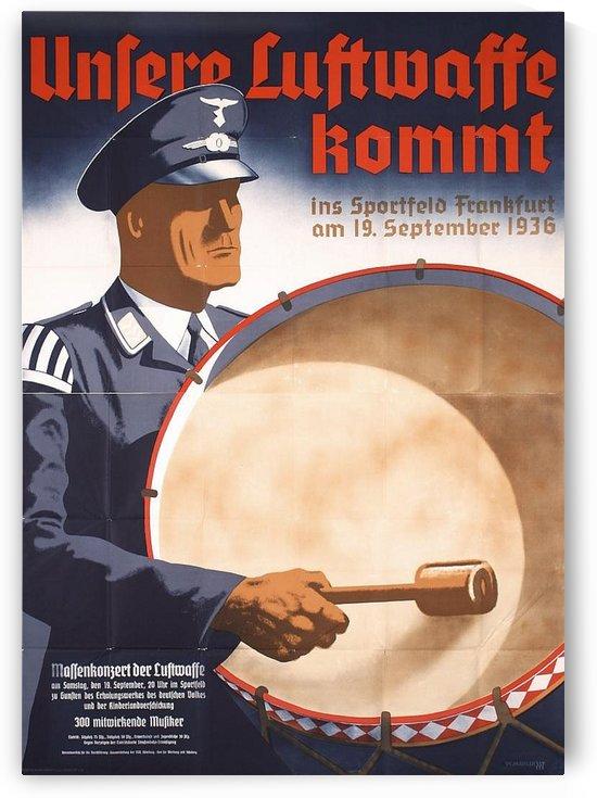 Unsere luftwaffe kommt German poster by VINTAGE POSTER