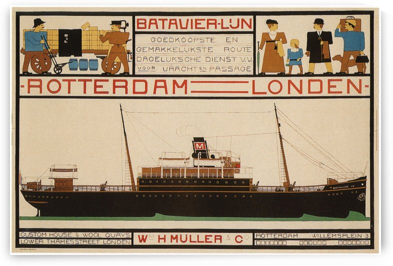 Rotterdam - London travel poster by VINTAGE POSTER
