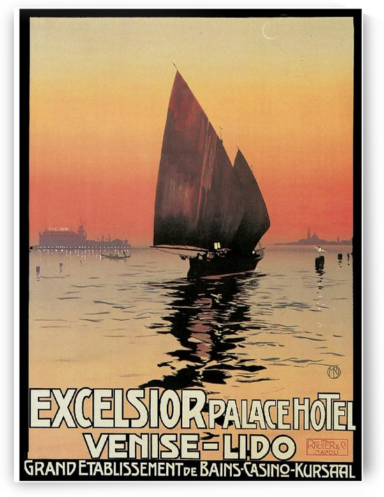Excelsior Palace Hotel Venise - Lido travel poster by VINTAGE POSTER