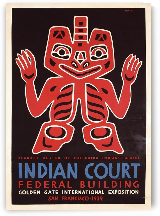 Indian Court vintage poster by VINTAGE POSTER