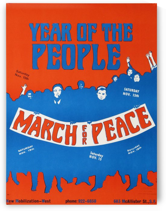 Year of the People March for peace poster by VINTAGE POSTER