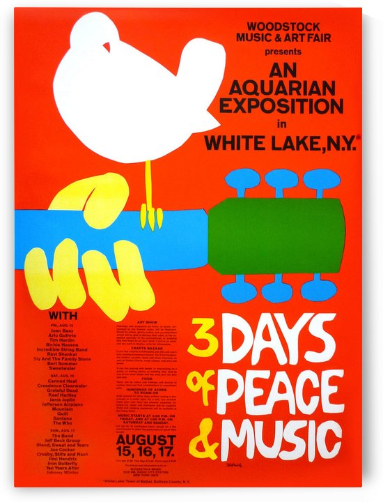 Original Woodstock poster in 1969 by VINTAGE POSTER