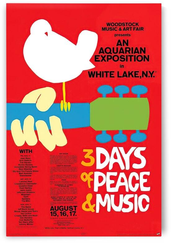 Original Woodstock poster in 1969 by VINTAGE POSTER