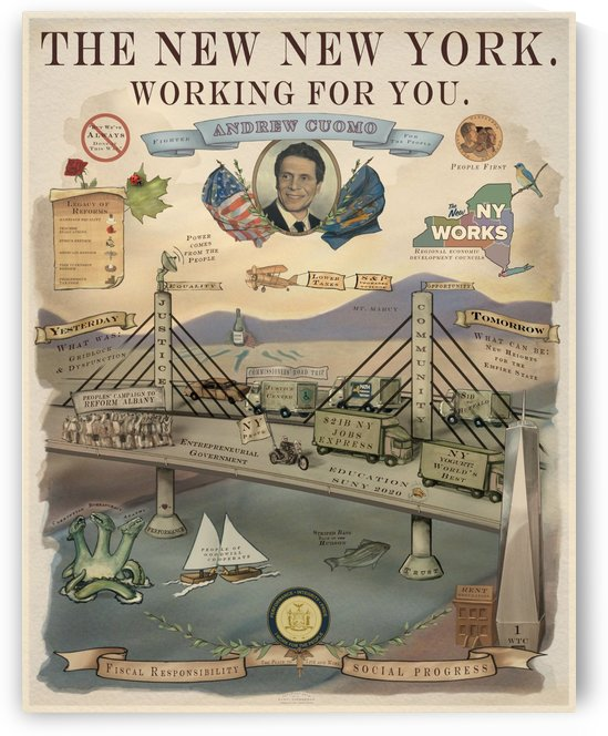 The New New York working for you poster by VINTAGE POSTER