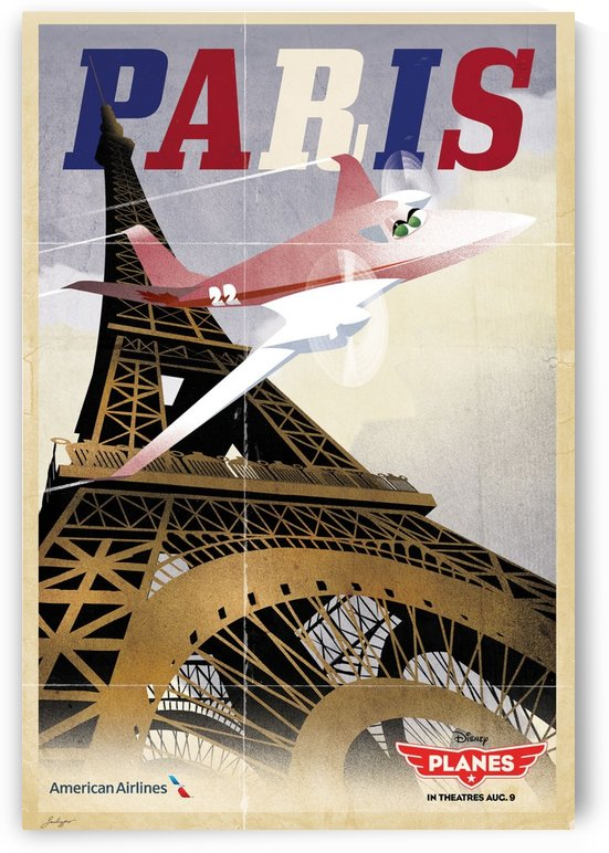 American Airlines Vintage Disney Planes poster by VINTAGE POSTER