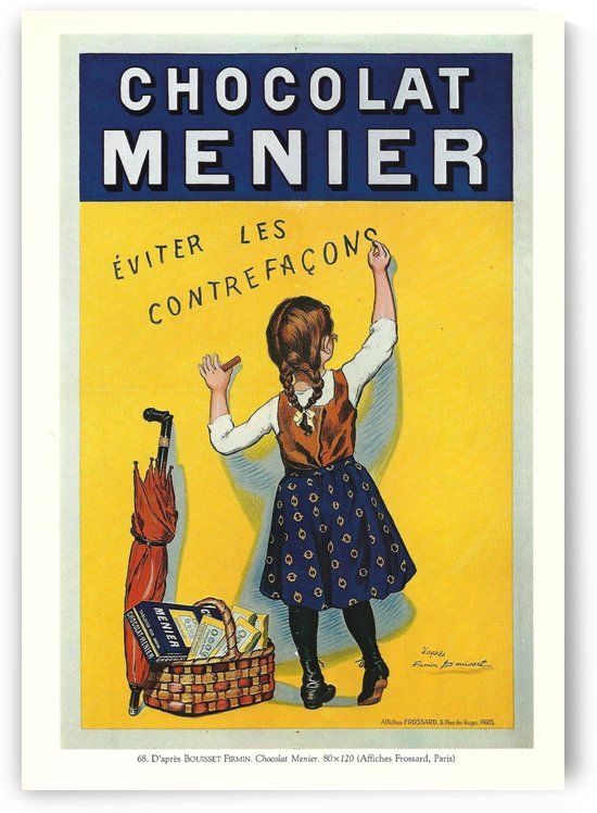 Chocolat Menier vintage poster by VINTAGE POSTER