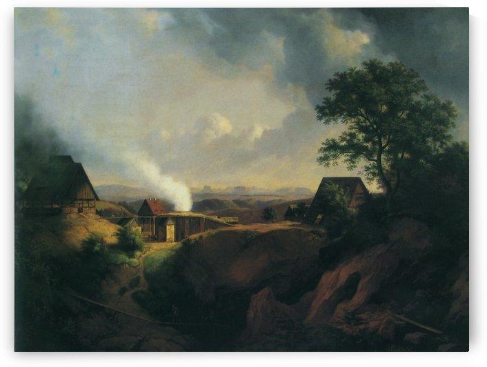 Landscape near Maxen by Ernst Ferdinand Oehme
