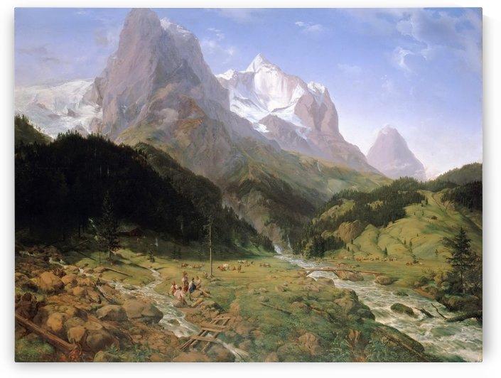 Das Wetterhorn by Ernst Ferdinand Oehme