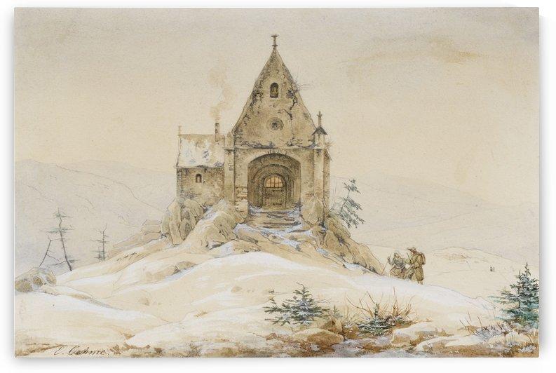 Bergkapelle during Winter by Ernst Ferdinand Oehme