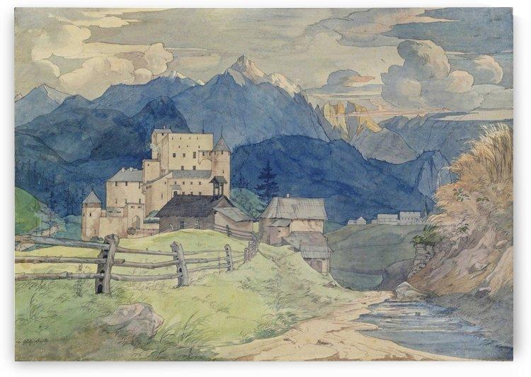 Schloss Naudersberg in Tirol by Ernst Ferdinand Oehme