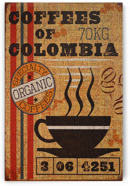Colombian coffee vintage poster by VINTAGE POSTER