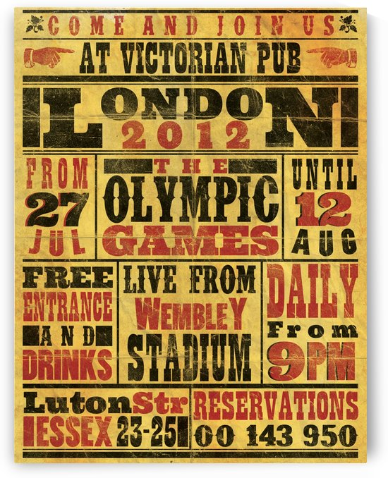 Vintage Olympics poster by VINTAGE POSTER