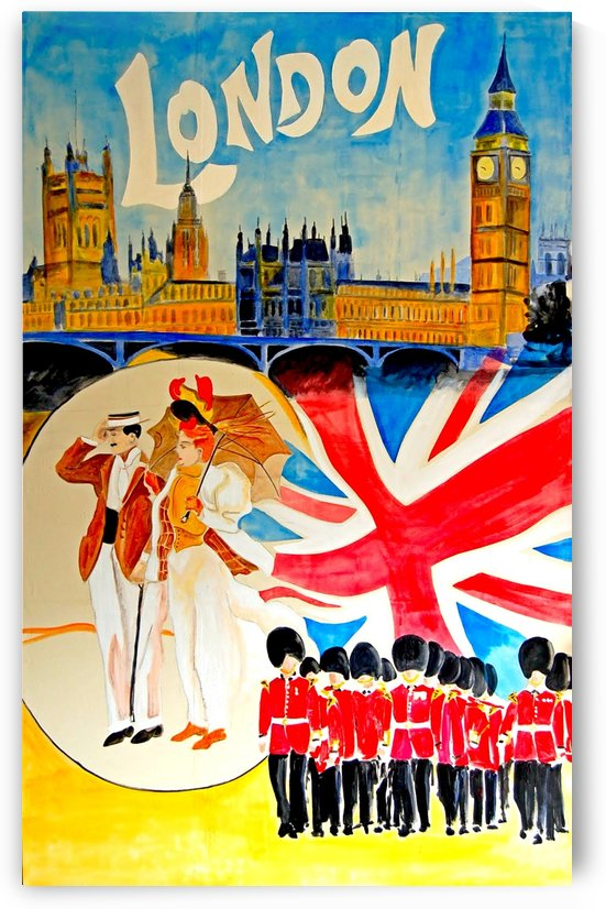 Vintage travel poster for London, England by VINTAGE POSTER