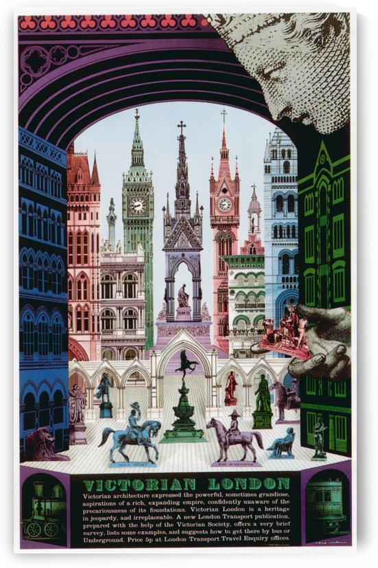 London Underground Victorian London poster by VINTAGE POSTER