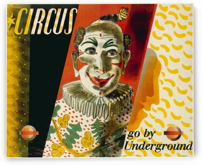 London Underground Circus poster by VINTAGE POSTER
