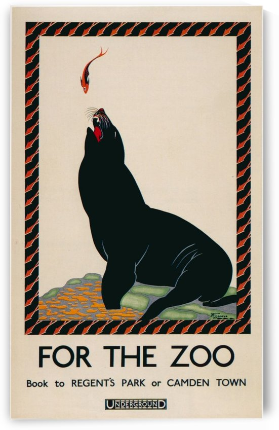 London Underground For the Zoo poster by VINTAGE POSTER