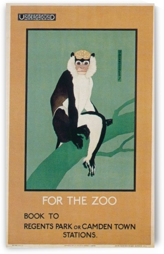 London Underground For the Zoo vintage poster by VINTAGE POSTER