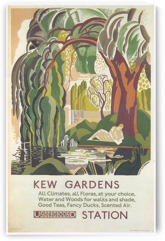 London Underground Kew Gardens poster by VINTAGE POSTER