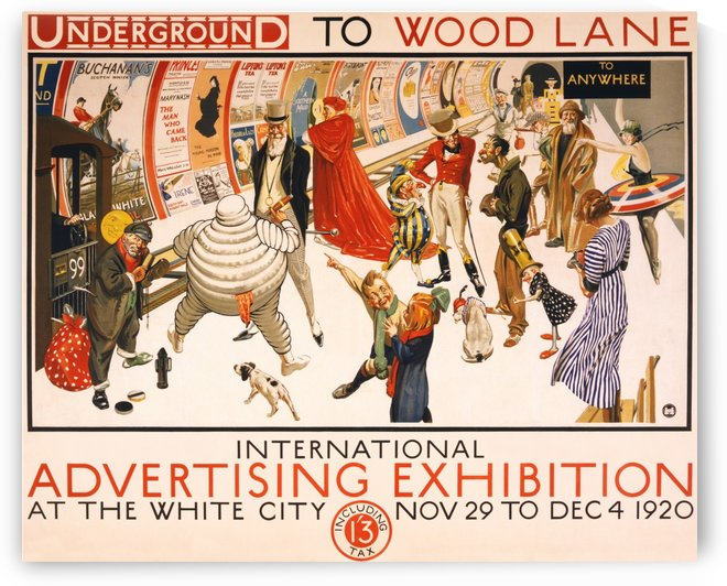 London Underground To Wood Lane poster by VINTAGE POSTER