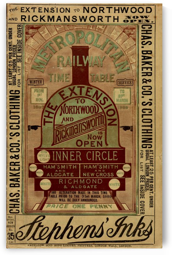 The extension to Northwood and Rickmanworth open by VINTAGE POSTER