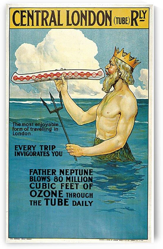 Central London vintage travel poster by VINTAGE POSTER