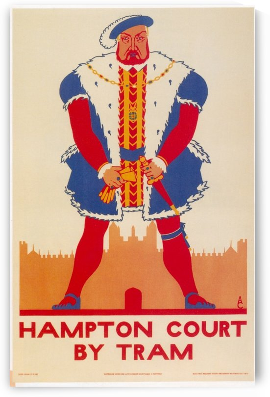 Hampton Court by Tram vintage poster by VINTAGE POSTER