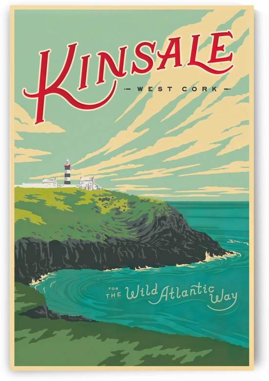 Kinsale Wild Atlantic Way vintage travel poster by VINTAGE POSTER