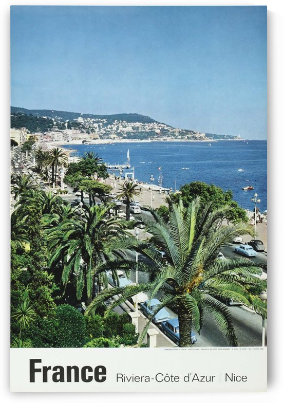 Original French travel poster for Nice - Riviera by VINTAGE POSTER