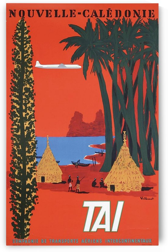 Nouvelle Caledonie TAI vintage travel poster by VINTAGE POSTER