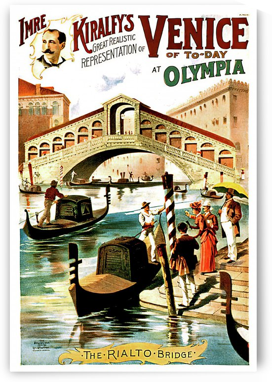 Vintage travel poster for Venice, Italy by VINTAGE POSTER