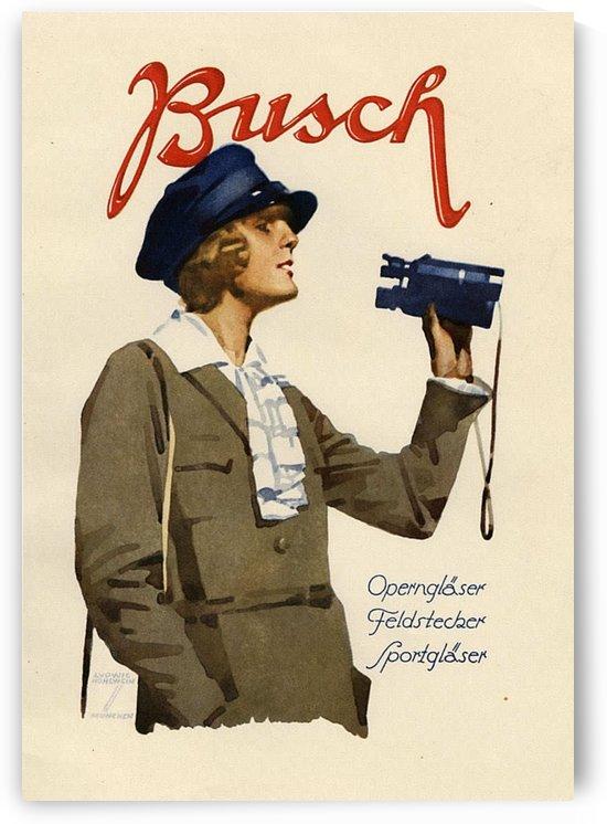 Busch Binoculars vintage poster by VINTAGE POSTER